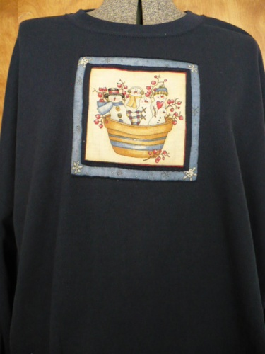 Snowman-themed pullover sweatshirts